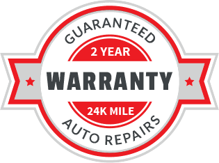 2 year / 24,000 mile warranty on auto repair