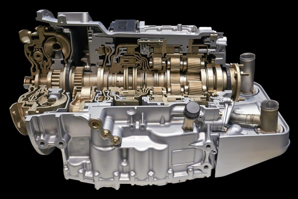 Cut-out view of a modern automatic transmission